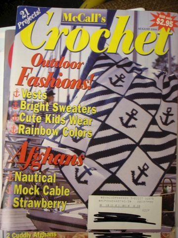 McCall's,Crochet,August,1996,Outdoor,Fashion,McCalls Crochet, August 1996, Outdoor Fashion, Vest, sweaters, afghans, knit, crochet, patterns,kg krafts