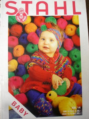 Stahl,Baby,Nr,14,Adorable,Fashions,knitting, crochet, stahl, baby, german, instructions, english, sweaters, booies, headband, toys