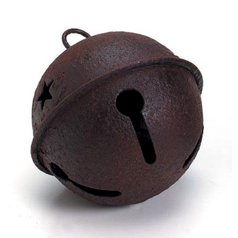 Rusty Bell with Star Cutouts in Two Sizes - product images