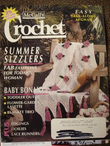 McCalls,Crochet,Magazine,June,1995,vol,9,no,3,McCalls Crochet, Magazine, June 1995, vol 9 no 3,vintage,kg krafts,doilies,children,afghans, crafts,craft supplies