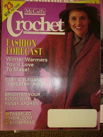 McCall's,Crochet,February,1995,vol,9,no,1,McCall's Crochet February 1995 vol 9 no 1,kg krafts,mccalls magazine,crochet patterns