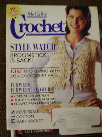 McCall's,Crochet,Magazine,April,1995,vol,9,no,2,McCall's Crochet Magazine April 1995 vol 9 no 2,crochet patterns,kg krafts,mccalls,knit patterns