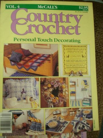 McCall's,Country,Crochet,Personal,Touch,Decorating,vol,4,McCall's Country Crochet Personal Touch Decorating vol 4,crochet patterns,home decor,kg krafts