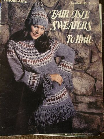 Leisure,Arts,#132,Fair,Isle,Sweaters,to,Knit,Leisure Arts #132, Fair Isle Sweaters to Knit,knit,crochet,patterns,kg krafts