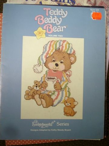 Teddy,Beddy,Bear,Volume,2,by,Kathy,Moody,Bryant,Teddy Beddy Bear Volume 2 by Kathy Moody Bryant,counted cross stitch,bears, needlework,kg krafts, crafts,craft supplies