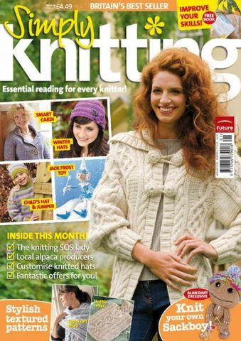 Simply,Knitting,Magazine,issue,49,simply knitting,issue no 49,patterns,sackboy,wraps,sweaters,knit,crochet,instructions,kg krafts