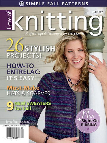 Love,of,Knitting,Fall,2012,from,Fons,and,Porter,Fons and porter,love of knitting,knitting patterns,sweaters,entrelac,scarves,magazine,kg krafts