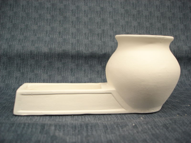 Placecard or Business Card Holder with attached Vase ready to paint - product images
