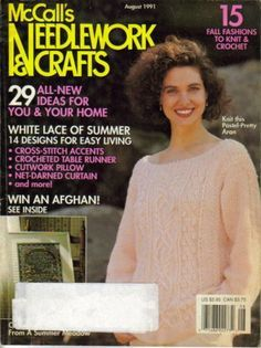 McCalls,Needlework,&,Crafts,August,1991,McCalls Needlework & Crafts August 1991,kg krafts,knit,crochet,pattern