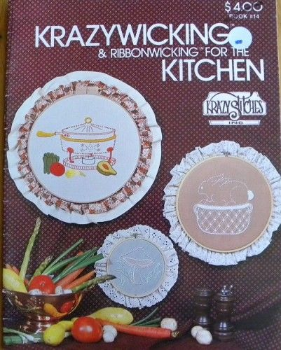 Krazywicking & Ribbonwicking for the Kitchen by Krazy Stitches - product images