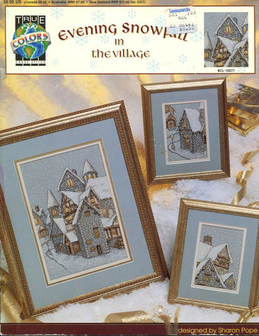 Evening,Snowfall,In,The,Village,By,True,Colors,BCL,10077,Evening Snowfall In The Village By True Colors BCL 10077,sharon pope,kg krafts,counted cross stitch