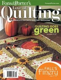 Fons & Porter's Love of Quilting sept/oct 2008 - product images