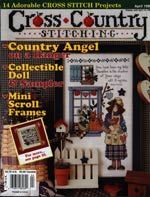 Cross,Country,Stitching,April,1998,Cross Country Stitching April 1998,kg krafts,counted cross stitch,needlework