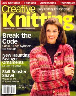 Creative,Knitting,September,2007,Creative Knitting September 2007,kg krafts,craft supplies,patterns,crochet,knit