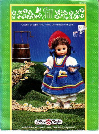 Jill,Fashion,Classics,from,Fibre,Craft,Jill Fashion Classics from Fibre Craft,15 inch doll,kg krafts,crochet patterns
