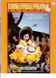 Little,Miss,Muffet,Fashion,Classics,from,Fibre,Craft,Little Miss Muffet Fashion Classics from Fibre Craft,15 inch doll,kg krafts,crochet patterns,bed doll