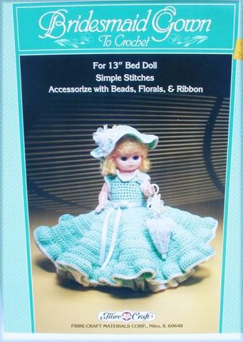 Bridesmaid,Fashion,Classics,from,Fibre,Craft,bridesmaid Fashion Classics from Fibre Craft,13 inch  bed doll,kg krafts,crochet patterns.bed doll