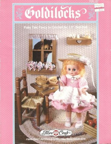 Goldilocks,Fashion,Classics,from,Fibre,Craft,Goldilocks Fashion Classics from Fibre Craft,13 inch  bed doll,kg krafts,crochet patterns.bed doll