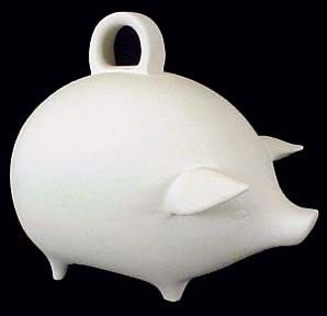 Piggy Bank in Ceramic Bisque - product images