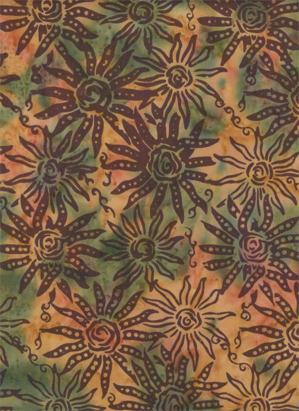 Batik 100% Cotton Fabric from Batik Textiles Indian Summer Collection - product image