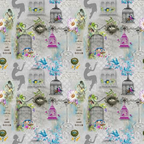 Song,Birds,Cotton,Fabric,by,Spectrix,Song bird,fabric panel,kg krafts,sewing,home decor,quilting,quilt,spectrix,fabrics
