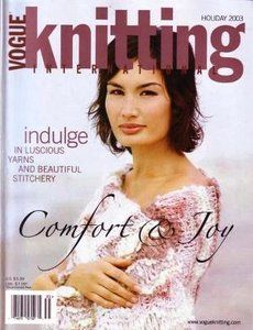 Vogue,Knitting,Holiday,2003,Vogue Knitting, holiday 2003, Classic Vogue, sweaters, family knit, designers
