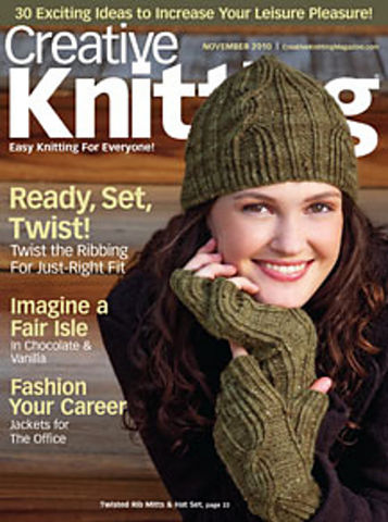 Creative,Knitting,November,2010,Creative Knitting November 2010,kg krafts,craft supplies,knit,crochet