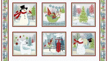 Henry Glass Holiday Cheer Panel 100% Cotton 24