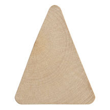Wood Triangle Hardwood Cutouts - product images