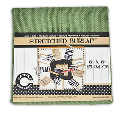 6 x 6 inch Stretched Burlap Canvas - product image