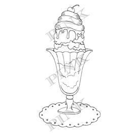 Pink Ink Super Sundae Wood Mounted Rubber Stamps - product image