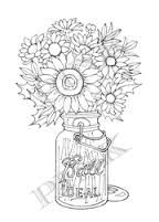 Pink Ink Wood Mounted Rubber Stamp Autumn in a Jar - product image