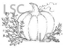 Pink Ink Wood Mounted Rubber Stamp Big Pumpkin - product image