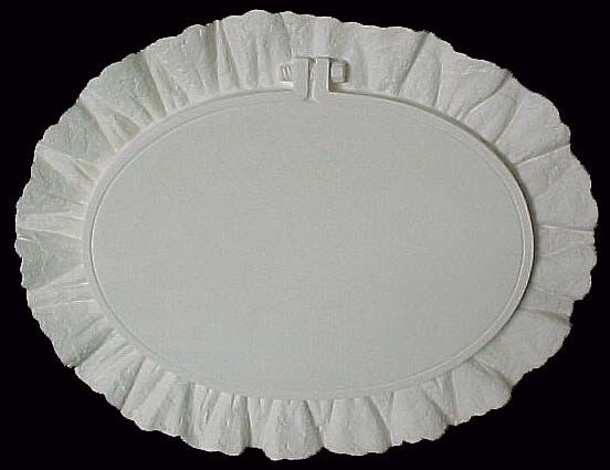 Hoop with Ruffled Edge Wall Decor in Ready to Paint Ceramic Bisque - product images