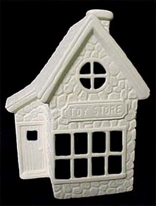 Scioto Christmas Toy Shop in Ready to Paint Ceramic Bisque - product images