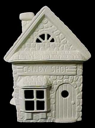 Scioto Christmas Candy Shop in Ready to Paint Ceramic Bisque - product images