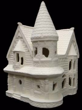 Scioto Haunted Village House in Ready to Paint Ceramic Bisque - product images