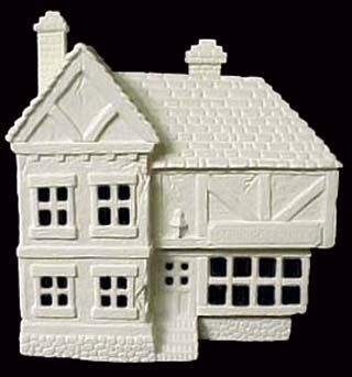Scioto Scrooge House in Ready to Paint Ceramic Bisque - product images