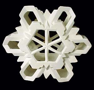 Snowflake Candle Holder Ready to Paint Bisque - product images