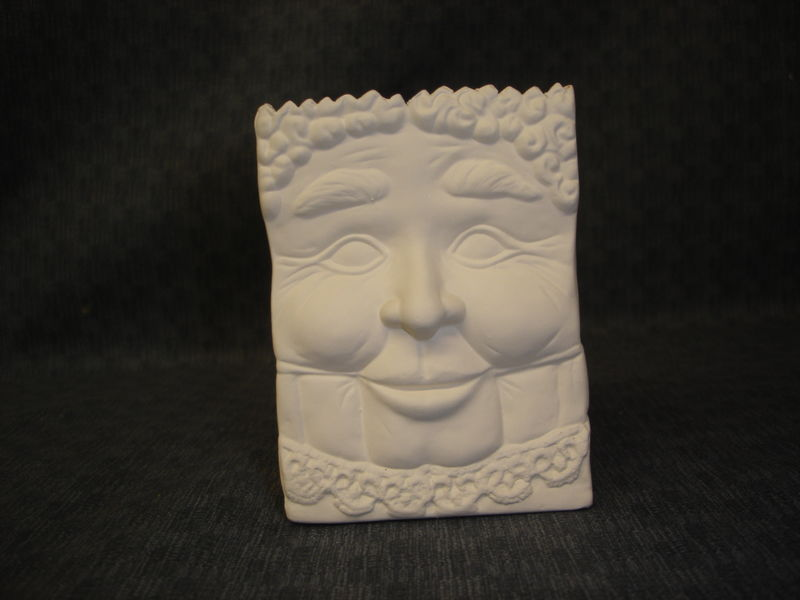 Santa or Mrs. Santa Bag Ceramic Bisque Ready to Paint - product image