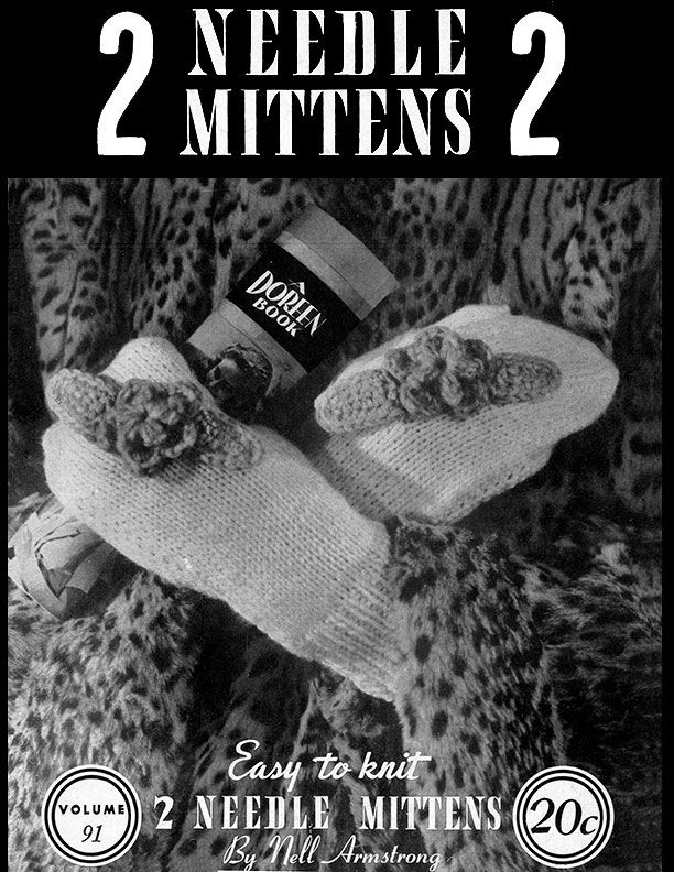 2 Needle Mittens 2 by Nell Armstrong volume 91 - product images