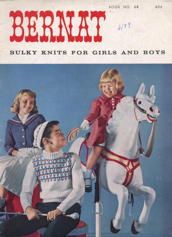 Bernat,Book,68,Bulky,Knits,for,Girls,and,Boys, Book 68, Bulky Knits for Girls and Boys,sweaters,hats,scarves,kg krafts,knit,crochet,patterns