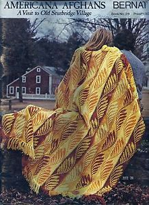 Americana Afghans A Visit to Old Sturbridge Village Bernat no 211 - product images