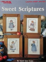 Sweet,Scriptures,by,Sandi,Gore,Evans,from,Leisure,Arts,leaflet,2291,Sweet Scriptures, Sandi Gore Evans,Leisure Arts leaflet 2291,kg krafts,counted cross stitich