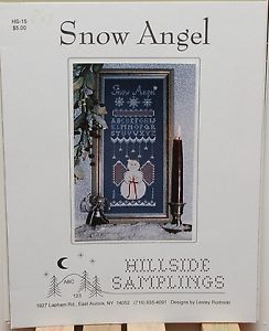 Snow,Angel,Hillside,Samplings,HS-15,Snow Angel Hillside Samplings HS-15, counted cross stitch, kg krafts,cross stitch patterns