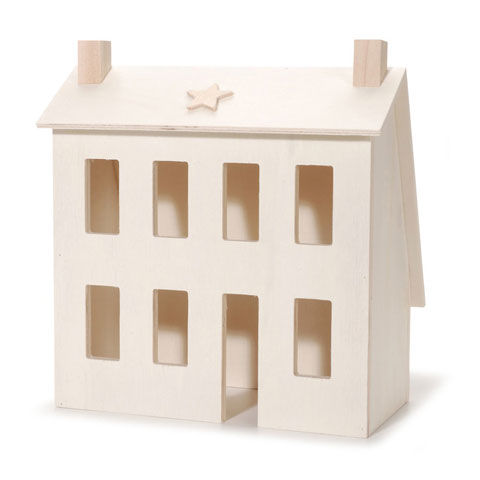 Primitive Wood House - Unfinished - 8.3 x 4.5 x 8.5 inches - product images