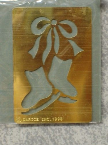 Darice Genuine Brass Embossing Stencil  Bow / Ice Skates 1020-67 - product images