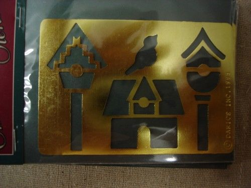 Darice Genuine Brass Embossing Stencil  Bird/Birdhouses 1020-21 - product images