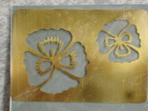 Darice Genuine Brass Embossing Stencil  Pansy  1195-84 - product images