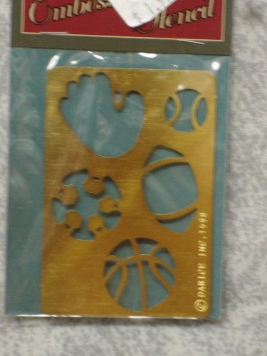 Darice Genuine Brass Embossing Stencil   Sports Equipment 1020-22 - product images